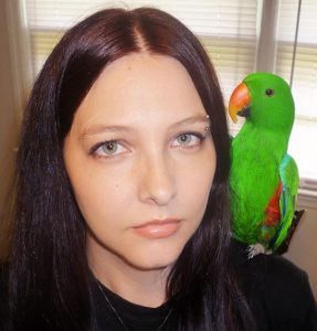Shaina and Marley the Eclectus Parrot